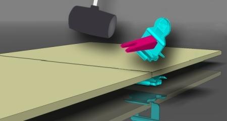 układanie płytek w systemie Perfect Level - usuwanie klipsa